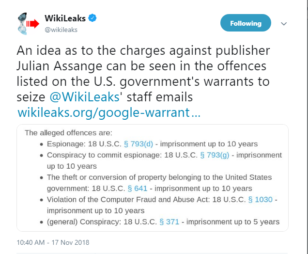 Assange charges